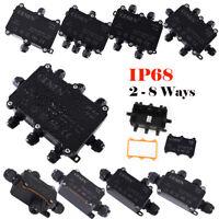 2-8 voies Boîte de dérivation IP68 Connecteur de câble étanche Boîte de jonction