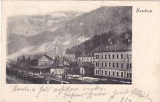 alte AK - Postkarte, Bahnhof Selzthal, Steiermark, Eisenbahn, Zug, gel.1901