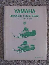 Rare Yamaha Snowmobile Sl338B Sw-396 Service Manual Used