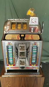 Mills 5 Cent Slot Machine Sharp Skill Stops