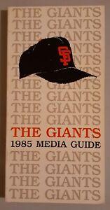 1985 San Francisco Giants Baseball Media Guide