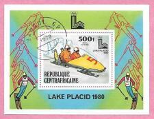 République CENTRAFRICAINE - CENTRAFRIQUE - 1979 Bloc 37 Jeux olympiques d'hive