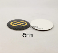4 x 65mm Enkei Black Gold Wheel Center Caps Emblem Logo Dust-Proof Wheel
