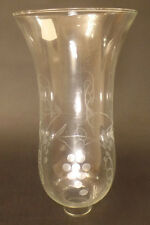 "1 5/8"" Clear Grapes Glass Hurricane Lamp Shade Candle Chandelier Light, 5"" x 10"""