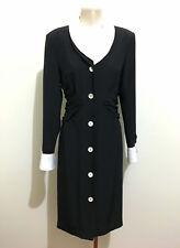LUISA SPAGNOLI VINTAGE '80 Abito Vestito Donna Jersey Woman Dress Sz.M - 44