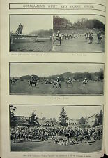1912 INDIA ~ OOTACAMUND HUNT & HORSE SHOW POLO PONIES CLASS MEET AT FERN HILL