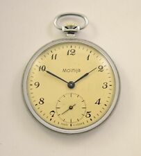 VINTAGE MOLNIJA USSR SOVIET POCKET WATCH MOLNIA 18 JEWELS!