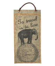"""Primitive by kathy """"To Travel Is To Live"""" Wall Banner"""