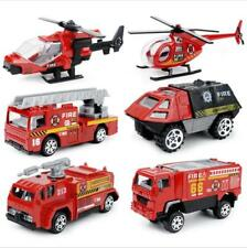 Pack of 6 Boys Toy Car Fire Truck Helicopter Armored Car Fillers Boys Gift Loot
