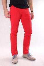 Tommy Hilfiger Hudson 026 Herren Jeans, Hose, Rot, Trousers W32/L34