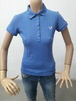 Polo FRED PERRY Donna T-shirt Woman Maglia Femme Taglia Size M Cotone 8646