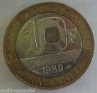 10 francs Génie de la bastille 1989 : TB : pièce de monnaie française