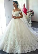 Wedding Dresses Bridal Ball Gowns Princess Off Shoulder Plus Size 4 6 8 10 12 14