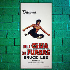 Manifesto Originale Cina Con Furore - The Chinese Connection, Bruce Lee 33x70
