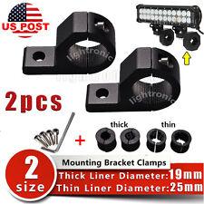 """2X 19 25 32mm 1"""" inch BULL BAR MOUNT BRACKETING CLAMP FOR SPOT LED LIGHT BAR ATV"""