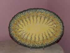 Polish Pottery UNIKAT Basia Scalloped Platter! Miss Daisy Pattern!