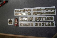 CLAUD BUTLER decal set AND METAL BADGE. Gold/black decals. Stunning quality!