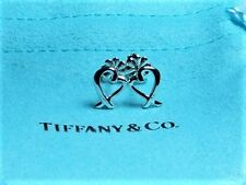 Tiffany & Co. Sterling Silver 925 Paloma Picasso Mini Loving Heart Stud Earrings