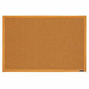 Quartet Corkboard Framed Bulletin Board 2' x 3' Cork Board Oak Wood Finish Fr...