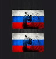 2x Sticker ussr cccp sssr urss russia car flag decal emblem russian bear r2