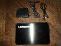 MANHATTAN Model 70926 Hard Drive Enclosure SATA 3.5 USB2.0