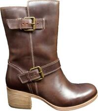 NEW Clarks Womens Size 7.5 M Maypearl Oasis Engineer Side Zip Brown Boots