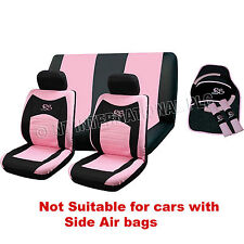 13pc RS COPRISELLA Set Pink Girl INTERNI AUTO UNIVERSALE RUOTA PADS copre 81228c