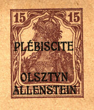 ALLENSTEIN Stationery Postcard Olsztyn Plebiscite GERMAN Stamp Overprint MINT NH