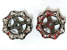Set of 2 pre-owned metal faucet handles.  Great for steampunk creations