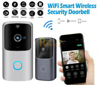 Smart Wireless WiFi Doorbell IR Video Visual Camera Intercom Home Security Kit