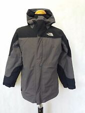 C581 BOYS THE NORTH FACE HYVENT GREY BLACK WALKING HIKING JACKET AGE 14-16 LARGE