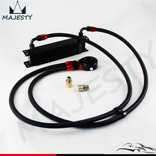 10 Row AN8 Engine Oil Cooler + 3/4*16 & M20 Filter Adapter hose Kit