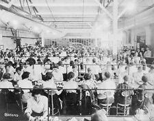 US American Women Workers Bench Assembling Dayton Ohio 8x10 World War I Photo