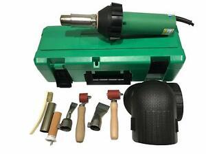 Professional 1600W Plastic Welder Gun Heat Gun with Knees Pads Electric Weld Kit