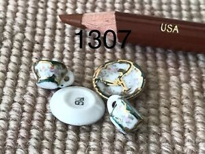 Bespaq Dollhouse Miniature Porcelain China Dish Cup & Saucer Plate 2 Sets 1307