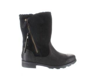 SOREL Womens Emelie Black Rainboots Size 8.5 (1314324)