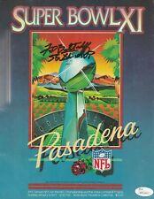 "Fred Biletnikoff Signed Original Football Super Bowl XI Program ""SB XI MVP"" JSA"