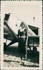 France, Aviatrice Vintage print  Tirage citrate  7x11  Circa 1935