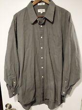 Christian Dior Men's Button Shirt Long Sleeve Chemise Charcoal 18.5 34/35 XL