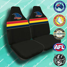 NEW! ADELAIDE CROWS FRONT CAR SEAT COVERS, OFFICIAL AFL, AIRBAG COMPATIBLE