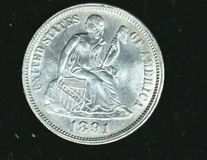 1891-O Liberty Seated Dime 10C (682-2) 99c NO RESERVE  Witter Coin