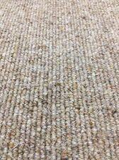 Carpet Remnant Roll End Heavenly Hemp Beige Wool Loop Pile 4x8.6m 50% OFF