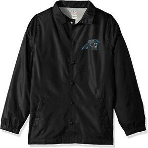 NFL Youth Boys Bravo Coaches Jacket Black M 10-12 Carolina Panthers Windbreaker