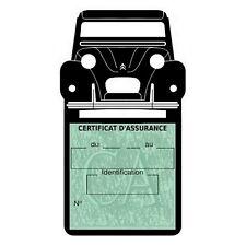 Etui vignette assurance 2CV Citroën New 2 support voiture Stickers auto rétro