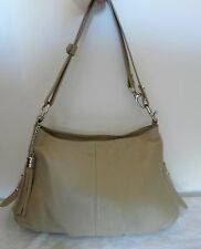 SAC A MAIN CUIR BEIGE GENUINE LEATHER - LEATHER HAND BAG ITALIE BORSE IN PELLE