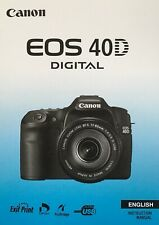 Canon EOS 40D Manual - Printed & Professionally Bound Size A5 - NEW 196 Pages