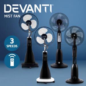 Devanti 40cm Mist Fan Cool Mist Portable Fans w/Remote Timer Home Sleep Mode