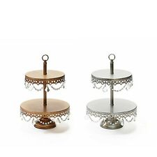 Two Tier Dessert Stand Chandelier, Cupcake Cookie Pastry Wedding Display