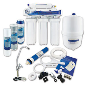 5 Stage Reverse Osmosis Water Filter System Premium Under Sink RO Unit - 50 GPD