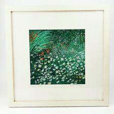 """~ ~ ~ mano bordadas obras de arte originales """"Jardín de Verano' ~ ~ Firmado & Enmarcado"""